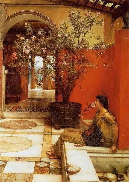 Alma Tadema An Oleander